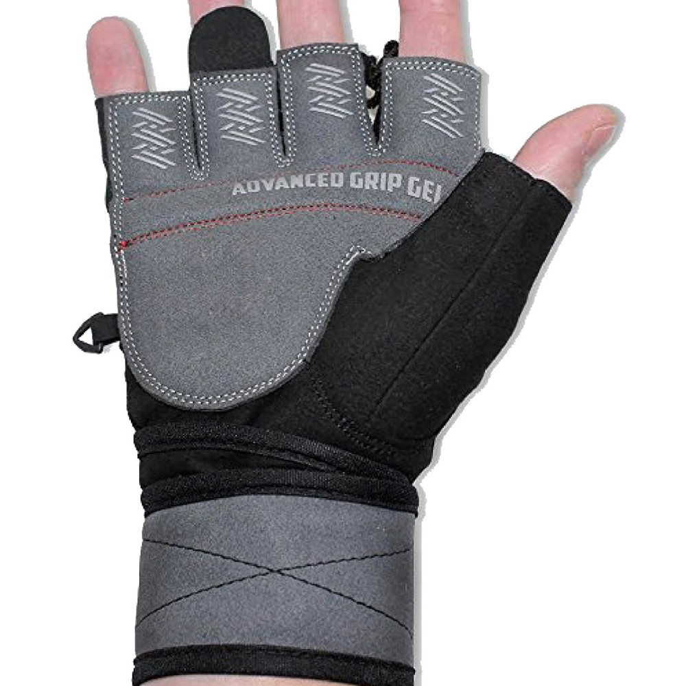 New WEIGHT LIFTING BODY BUILDING GLOVES WITH WRIST WRAPS NEW GYM FITNESS